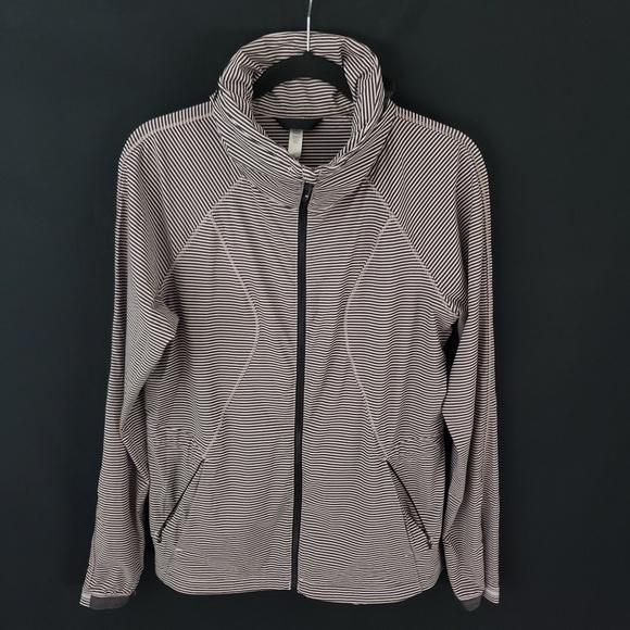 lululemon athletica Jackets & Blazers - Lululemon Women's Striped Full Zip Jacket Sz 8